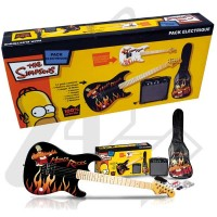 THE SIMPSONS PACK DE GUITARRA ELECTRICA NEGRO